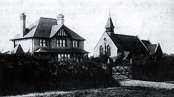 The vicarage and church about 1910 [X354/4/80]